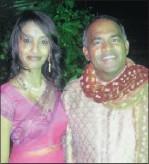 ??  ?? Nameshni Govender and Amar Jeet at the Indian consulgeneral's Diwali bash.