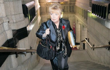 ?? JUSTIN TANG/National Post ?? The RCMP allege former Conservative Sen. Pamela Wallin charged the Senate for travel related to her work on the board of directors for Porter Airlines and wealth management firm Gluskin Sheff & Associates.