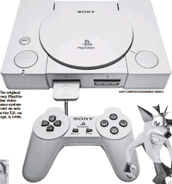 ??  ?? The original Sony PlayStation video game system went on sale in the U.S. on Sept. 9, 1995. SONY COMPUTER ENTERTAINMENT AMERICA