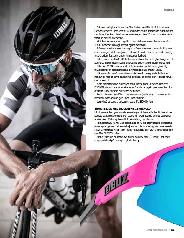 1fd247e58c61 PressReader - Cykel-Motion Danmark  2019-03-05 - Cykelbrillerne fra BLIZ