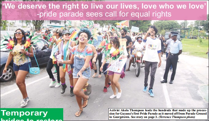 We Deserve The Right To Live Our Lives Love Who Pride Parade Sees Call For Equal Rights