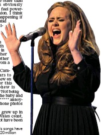 ??  ?? GOLDEN VOICE: Adele's songs have earned her an es­ti­mated £20mil­lion