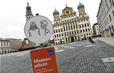 ?? Foto: Silvio Wyszengrad (Archivbild) ?? Der Inzidenzwert in Augsburg lag am Donnerstag zum zweiten Mal in Folge über 200. Bleibt er so hoch, gelten bald vor allem beim Einzelhandel strengere Regeln.