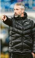 ?? Fotos: Jan Hübner/Thorsten Wagner, Witters ?? Zwei Bundesliga‰Trainer, die für sich einen neuen Weg gefunden haben: Adi Hütter (links) und Marco Rose.