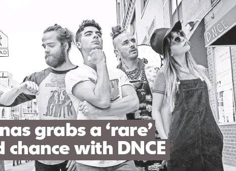 ?? BLACK COFFEE ?? Jack Lawless, left, Joe Jonas, Cole Whittle and JinJoo Lee of DNCE are giving the former Jonas Brother a new chance at success.