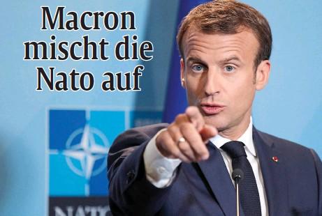 """??  ?? Erst erklärte er die Nato für """"hirntod"""", jetzt fühlt er sich ausgebootet – und schäumt: Frankreichs Präsident Emmanuel Macron. Foto: dpa"""