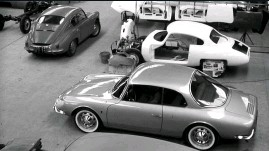 ??  ?? Much-improved Alpine GT4 in the Chappe workshops, with a CD being assembled behind