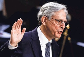 ?? CARLOS BARRIA/POOL VIA AP ?? Attorney General Merrick Garland has vowed to reaffirm standards that protect the independence of the Justice Department.