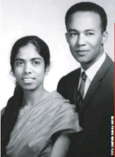 ??  ?? Sus padres, Shyamala Gopalan y Donald J. Harris, eran inmigrantes de India y Jamaica que se conocieron en medio de las manifestaciones en pro de los derechos civiles de la University of California en Berkeley, en 1962.