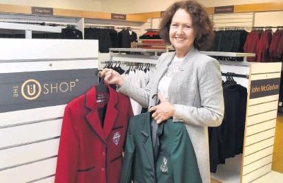 ?? PHOTO: GREGOR RICHARDSON ?? Red or green? Uniform Group director Adele Gordon inside the new U Shop that opens on Monday.