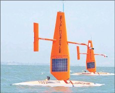 ?? — Saildrone Inc. ?? Saildrones will ridethe waters and transmit observations for up to a year.