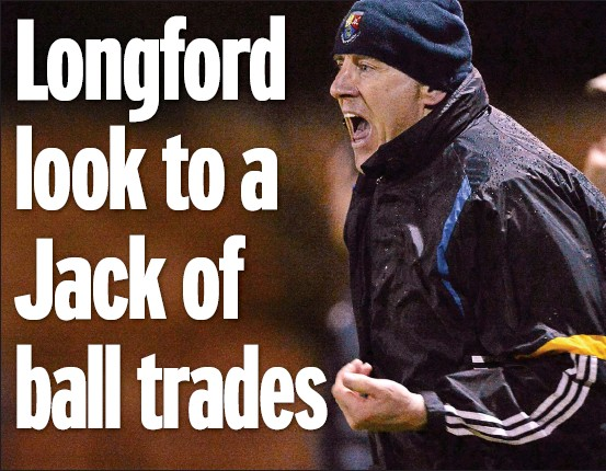 ??  ?? bossing it: Jack Sheedy as Longford manager and with the Dubs (below)