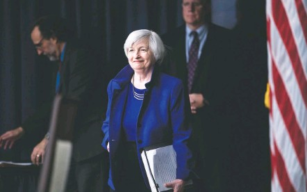 ?? BRENDAN SMIALOWSKI/AGENCE FRANCE-PRESSE/GETTY IMAGES ?? If confirmed, Janet L. Yellen, pictured in 2017 when she served as Fed chair, would oversee the Treasury Department at a perilous time for the economy. Her nomination would highlight the president-elect's efforts to lean on Washington veterans and unite his party.