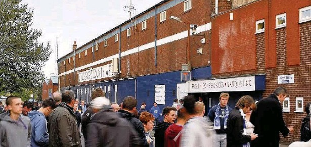 ?? Mike Petch ?? Edgeley Park, home of Stockport County, may be bought by Stockport Council to prevent its demolition