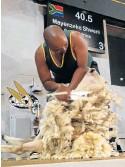 ??  ?? SHEARING PASSION: Mayenzeke Shweni is the Blade Shearing World Champion