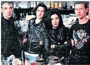 ??  ?? ● Johnny Mcelhone, Ally Mcerlaine, Sharleen, and Stuart Kerr in late-80s Texas