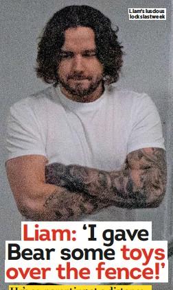 ??  ?? Liam's luscious locks last week