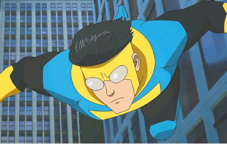 ?? AMAZON PRIME VIDEO ?? Minari and The Walking Dead star Steven Yeun voices the titular superhero in Invincible, an Amazon animated series based on the comics created by Robert Kirkman and Cory Walker. The rest of the cast is likewise impressive, including J.K. Simmons, Zazie Beetz and Sandra Oh.