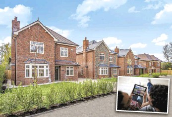 ??  ?? (above) Woodlark Gardens, and (left) browse the Simply New Homes website to find your dream home