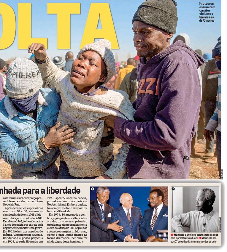 ??  ?? Protestos assumiram caráter violento e fizeram mais de 70 mortos