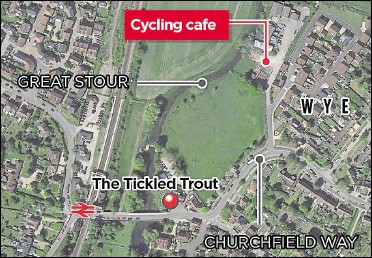??  ?? The ex-bus depot site is close to The Tickled Trout pub and Wye railway station; the team behind the plan says it is an ideal location for cyclists