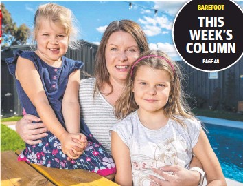 ??  ?? Victoria Clark, with daughters Sophie and Emily, has turned her finances around thanks to Scott Pape's book (inset).