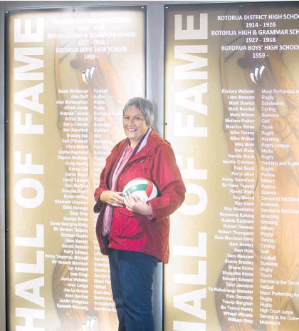 ?? Photo / NZME ?? Tilly Hirst (nee Vercoe) was inducted into Rotorua Boys' High School's Hall of Fame – which also includes Rotorua High School – in 2018 for her significant achievements in netball.