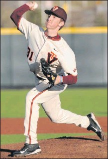 ?? DAVE KNACHEL/VIRGINIA TECH ?? Right-handed pitcher Aaron McGarity starred at Mills Godwin and Virginia Tech before being drafted by the Yankees in 2017. The 26-year-old minor leaguer had Tommy John surgery on April 28.