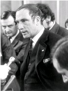 ??  ?? Right: Pierre Trudeau, Canada's justice minister at the time, proposed reforms that would remove some homosexual acts from the Criminal Code.