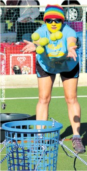 ??  ?? It's all about remaining focussed during the games. Nita van Rooyen will be up for it and back in action again this year