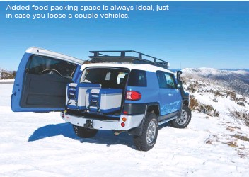 ??  ?? Added food packing space is always ideal, just in case you loose a couple vehicles.