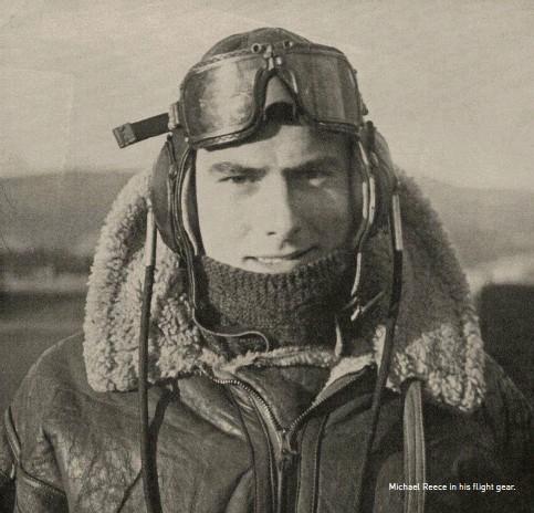 ??  ?? Michael Reece in his flight gear.