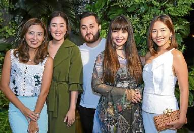 ??  ?? Rustan's Circle designers Rosanna Ocampo, Patty Ang, Mark Bumgarner, Happy Andrada and Mich Araullo