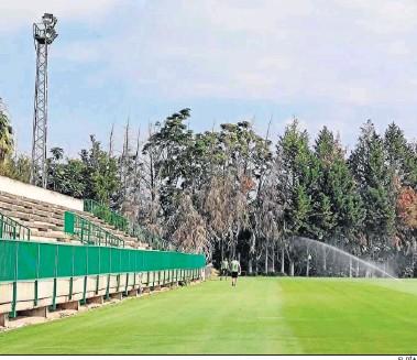 ?? EL DÍA ?? El campo principal de la Ciudad Deportiva, el día que el Córdoba fue desalojado de la instalación.