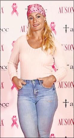 ??  ?? Lydia Valentín, ayer en Madrid, durante el acto de Ausonia.