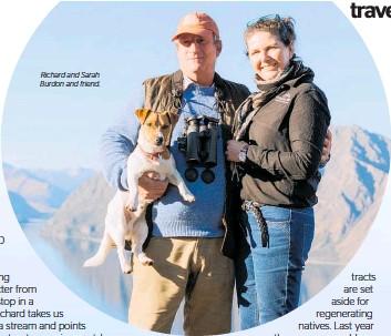 ??  ?? Richard and Sarah Burdon and friend.