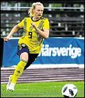 ?? Foto: imago images/Bildbyran ?? Wird Wölfin: Rebecka Blomqvist.