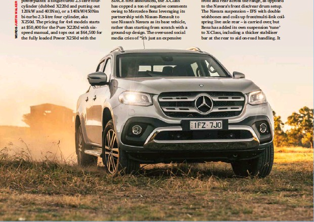 Pressreader 4 X 4 Australia 2018 05 24 Drive Mercedes Benz X Class