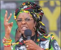 ??  ?? Zimbabwe's first lady Grace Mugabe was granted immunity.