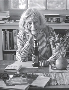 ?? CAROL GUZY, THE WASHINGTON POST ?? 'I was getting sick and tired of being lectured by dear friends with their little bottles of water and their regular visits to the gym,' Barbara Holland says of the impetus that drove her to write The Joy of Drinking.