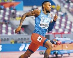 ??  ?? Anthony Zambrano en el Mundial de Doha en 2019.