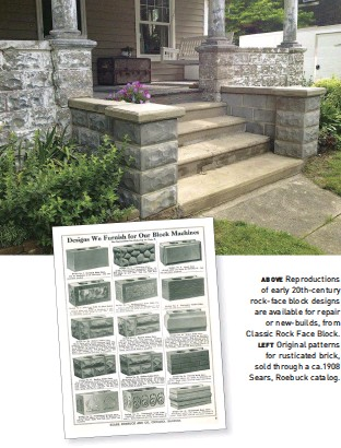 Above Reproductions Of Early 20th Century Rock Face Block Designs Are Available For Repair Or New Builds From Clic