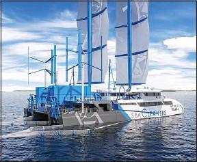??  ?? Le skippeur Yvan Bourgnon espère mettre à l'eau le bateau en 2024.