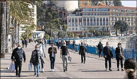 ??  ?? De nouvelles restrictions de déplacement seront en vigueur dans les Alpes-Maritimes les deux prochains week-ends.