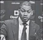 ?? Tony Dejak Associated Press ?? NO INTERIM coach, Tyronn Lue already has a multiyear deal with the Cavaliers.