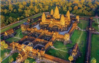 ??  ?? A bird's eye view of Angkor Wat