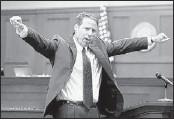?? JOE BURBANK / ASSOCIATED PRESS ?? Prosecutor John Guy gestures in George Zimmerman's trial. Guy repeated words Zimmerman uttered to a police dispatcher as he followed Trayvon Martin.