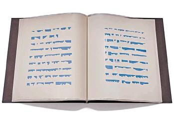 ??  ?? Libro N° 61971. 25 grafismos, 18 páginas. Colección Malba.