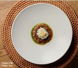 ??  ?? Flower Crab Konjac Rice