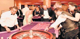 ??  ?? Illegal gambling High rollers had one eye on the wheel, the other for cops